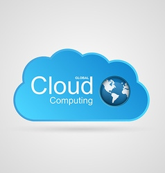 Cloud computing concept Modern design template vector