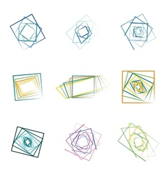 Colored abstract icons vector
