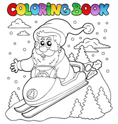 coloring book santa claus topic 4 vector image
