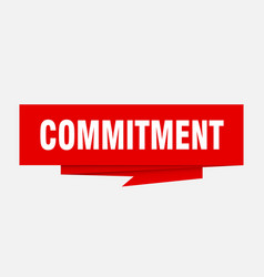 Commitment vector