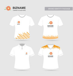 Company logo shirts design with flower logo vector