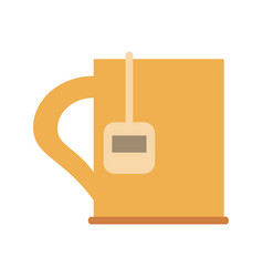 cup with tea bag icon image vector image