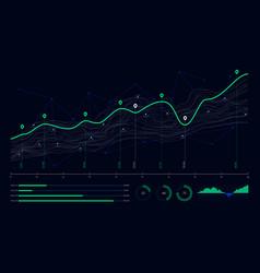 Digital business analytics concept data threads vector