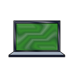 Drawing laptop technology information science vector