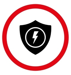 Electric Guard Flat Rounded Icon vector