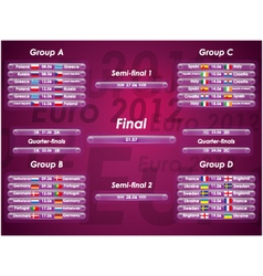 Euro 2012 fixtures vector image