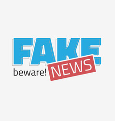 Fake news typographic design on a white background vector