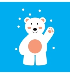 Flat icon on blue background northern bear vector