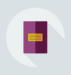 Flat modern design with shadow icon notebook vector