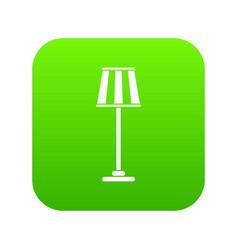 floor lamp icon digital green vector image