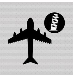 Fly around the world design vector
