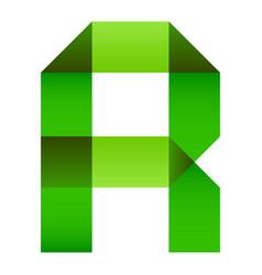 Font folded paper letter vector