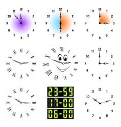funny clocks vector image vector image