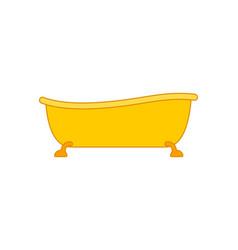 Golden bath yellow bathtub rich bathroom vector