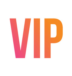 gradient isolated standard font type word vip vector image