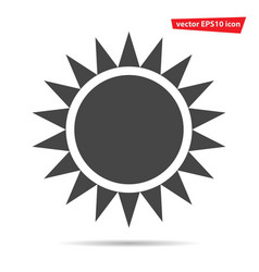 gray sun icon isolated on background modern flat vector image