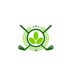 green golf logo icon design vector image