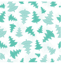 green scattered christmas trees forest vector image