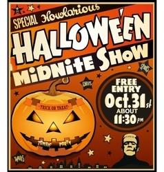 Halloween vintage poster vector