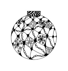 Handdrawn christmas ball vector