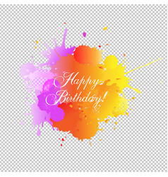 Happy birthday card with blobs transparent vector