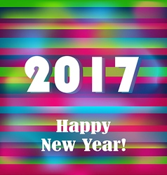 Happy New 2017 Year on striped pattern vector