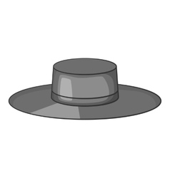 Hat icon gray monochrome style vector image