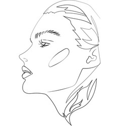 head of beautifull young woman on white vector image