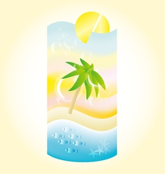 Holiday beach coctail vector