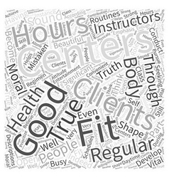 Hours fitness center Word Cloud Concept vector