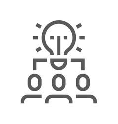 human resource management line icon team work vector image