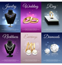 Jewelry Realistic Banners vector image