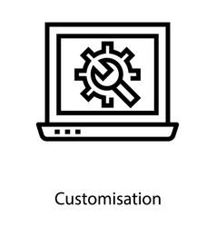 Laptop customization vector