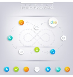 Modern infographic design with place for your text vector image
