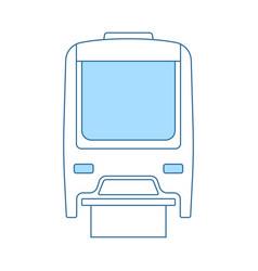 Monorail icon vector
