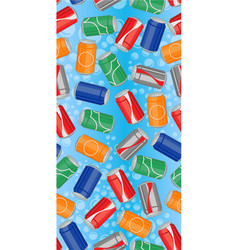 Nice cans pattern vector