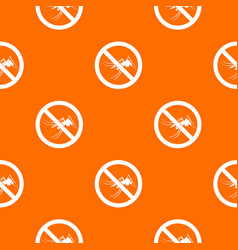 No mosquito sign pattern seamless vector