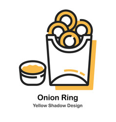 onion ring lineal color vector image