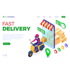 online order package delivery service vector image