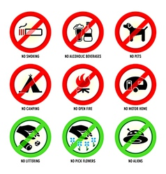 Park signs - Set I vector