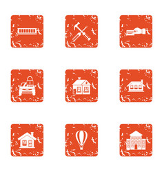 Payment resource icons set grunge style vector