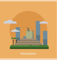 Pekanbaru city of indonesia conceptual design vector
