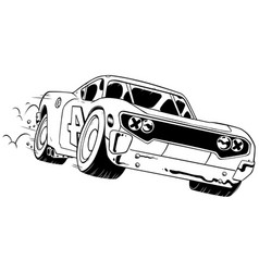 race car line art vector image