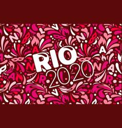 Rio 2020 brazilian carnival design template vector