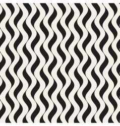 Seamless Black and White Wavy Vertical vector