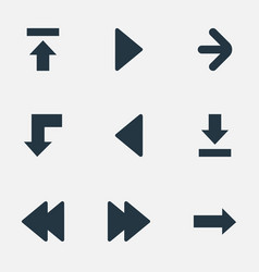 Set of 9 simple cursor icons can be found such vector