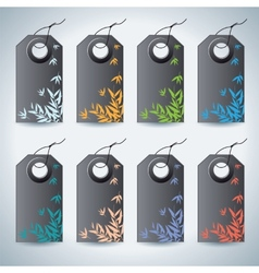 Set of the colorful tags on white background vector image