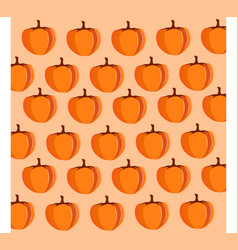 simple cartoon pattern with pumpkins autumnal vector image