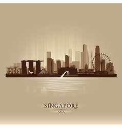 Singapore city skyline silhouette vector