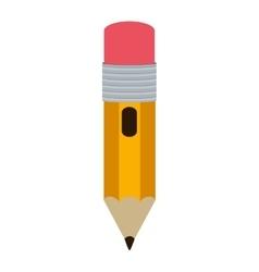 Small design pencil with eraser vector